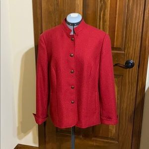 Red Coldwater Creek tone on tone jacket